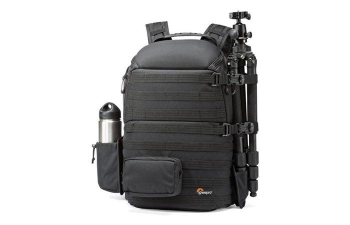Lowepro Pro Tactic 450 AW camera backpack tripod attachment