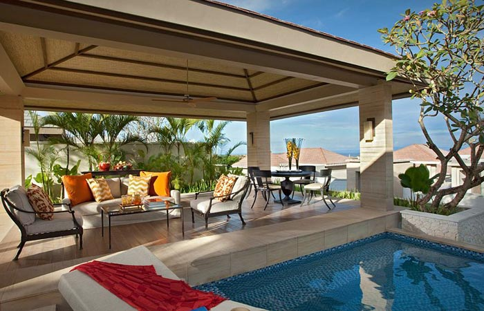 Rooms at the Mulia resort in Bali