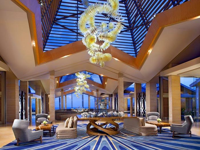 Interior design at Mulia resort