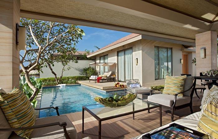 Rooms at Mulia resort in Bali