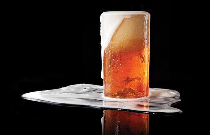 3D mountain pint glass
