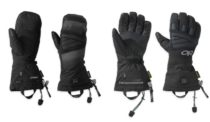 Outdoor Research Lucent heated glove and mitt