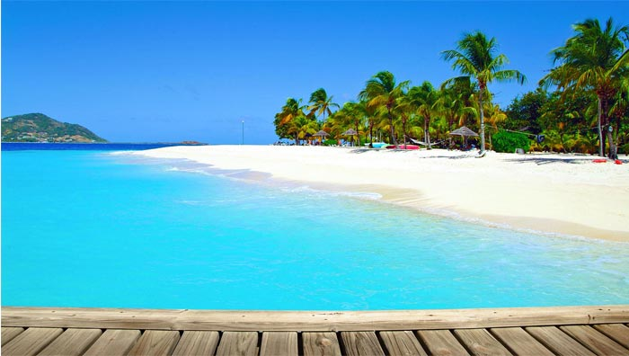 Beach at Palm Island Resort in St. Vincent and the Grenadines