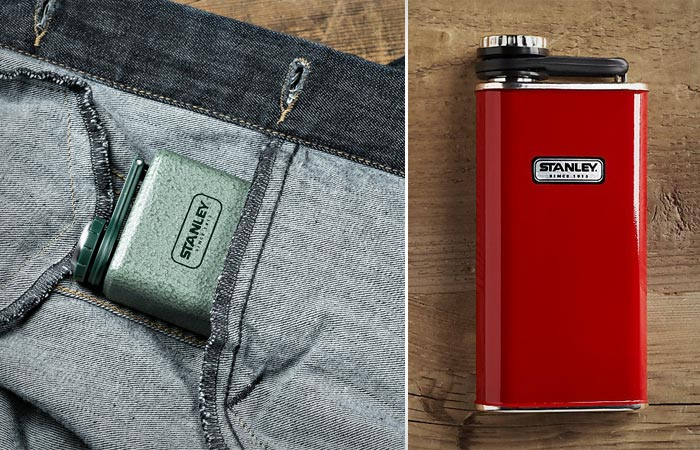 Stanley Classic flask in green and red
