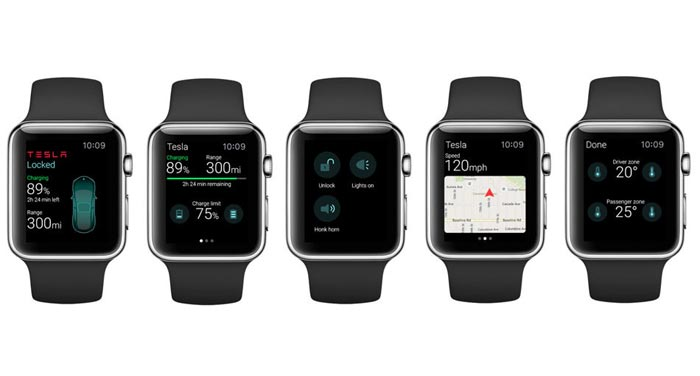 Apple watch Tesla App