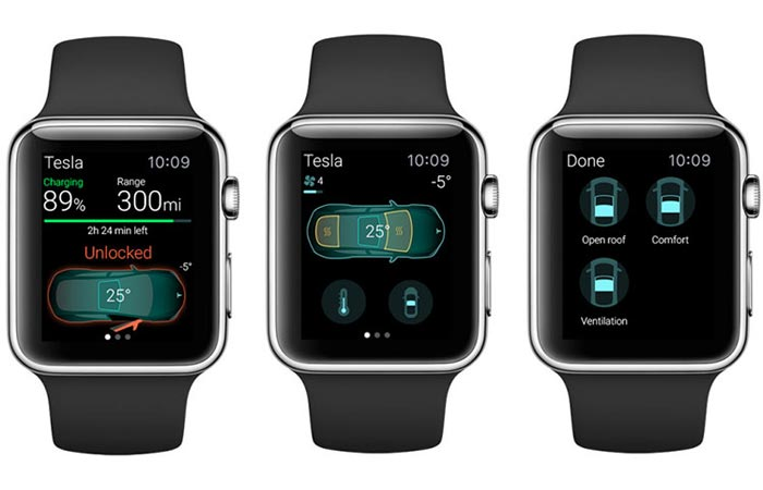 Apple watch Tesla App features