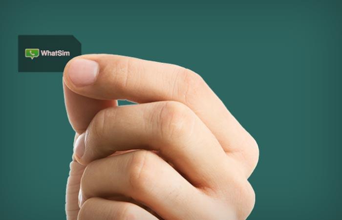 SIM card of WhatSim by Whatsapp