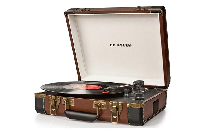 Crosley CR6019A Executive Briefcase turn table record player