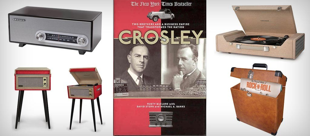 Crosley record players and turn tables