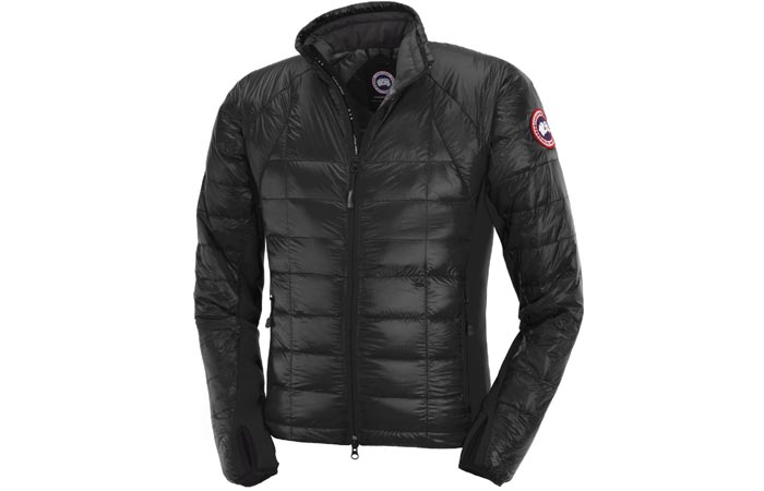Black Canada Goose Hybridge Lite Jacket
