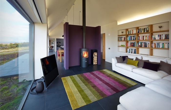 Interior design of the Skye Island House