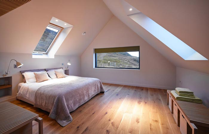 Interior design of the Skye Island house by Dualchas Architects