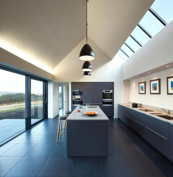 Kitchen in a private home on Skye Island