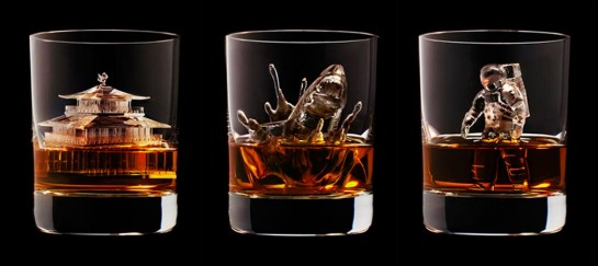 3D CARVED ICE CUBES | SUNTORY WHISKEY