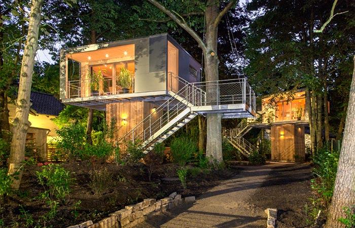 Two Baumraum Urban Treehouses