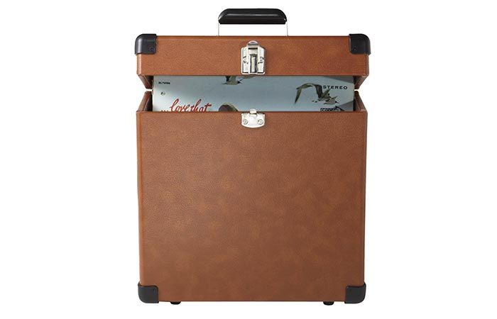 Crosley CR401-TA Record Carrier Case opened