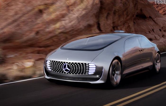 Futuristic design of the F 015