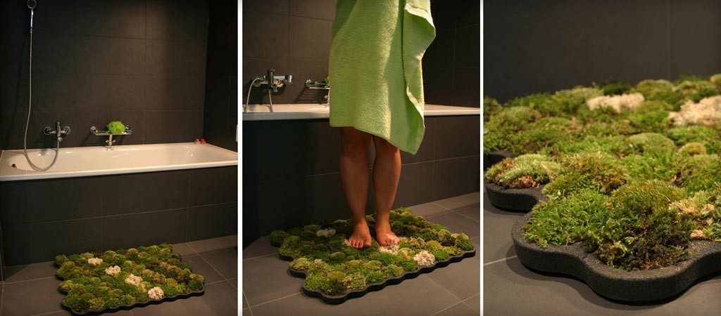 Captivating Moss Bathroom Mat By Nection Design