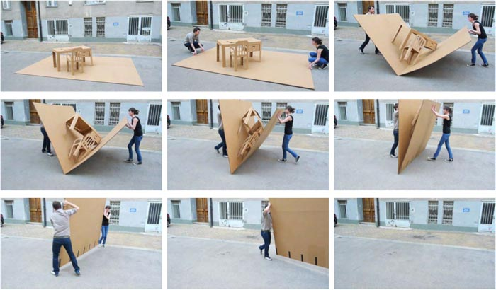 POP UP OFFICE FOLDABLE FURNITURE