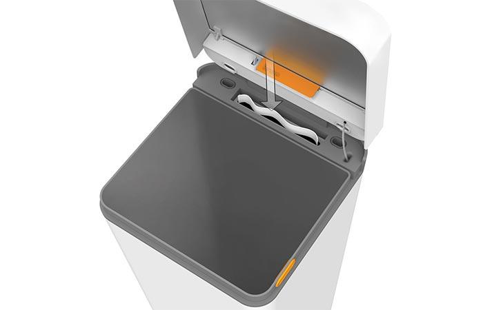 Bruno Smart Trash Can trash bag dispenser