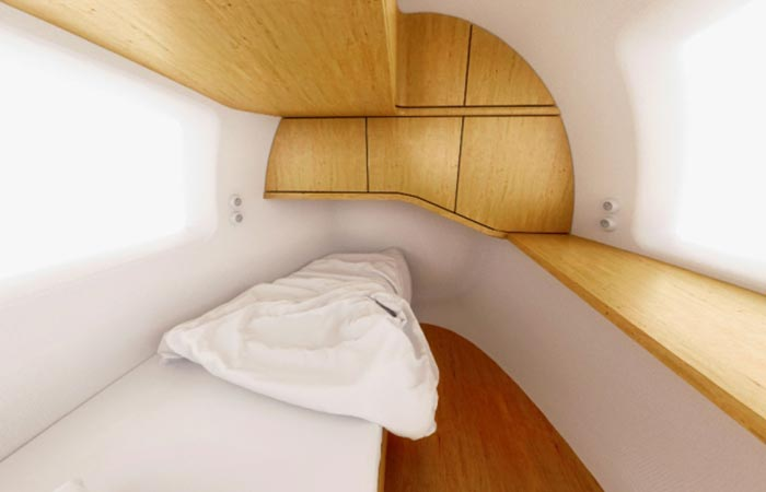 Ecocapsule bed and storage