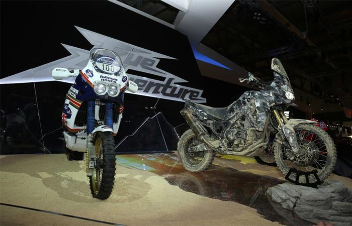 CRF1000L Africa Twin prototype and Honda NXR750V