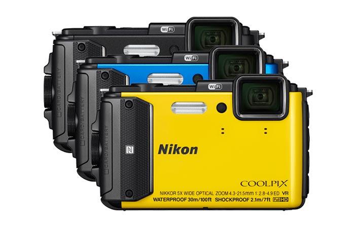 Nikon Coolpix AW130 color variants