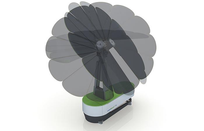 smartflower POP solar modular fan