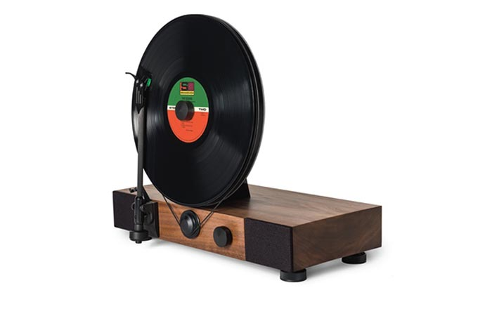 Floating Record Vertical Turntable design