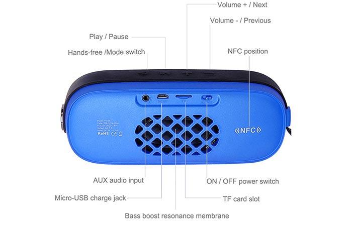 Lumsing Speaker size