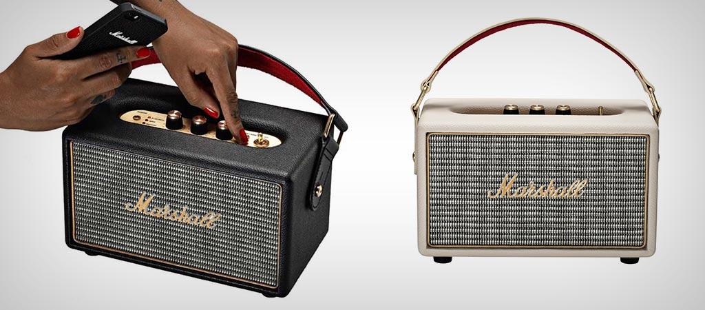 Kết quả hình ảnh cho Marshall Kilburn Bluetooth speaker