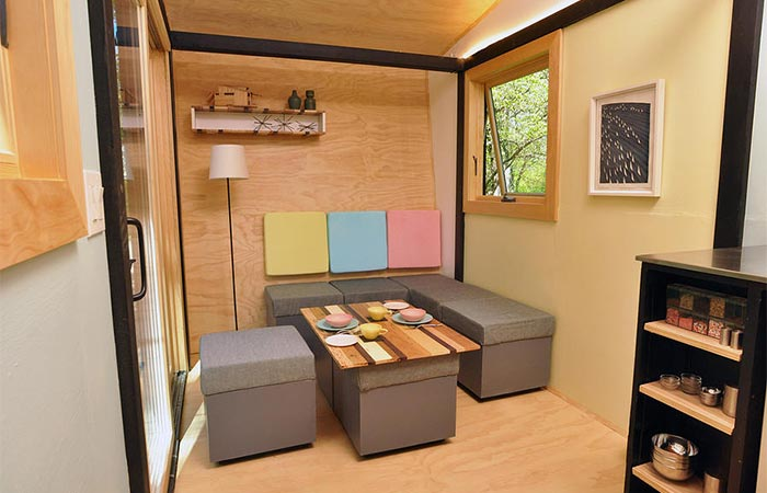 Toybox Tiny Home rearrangeable seats