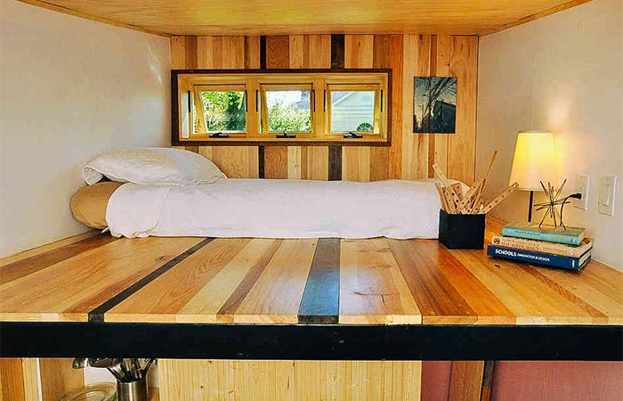 Toybox Tiny Home sleeping area