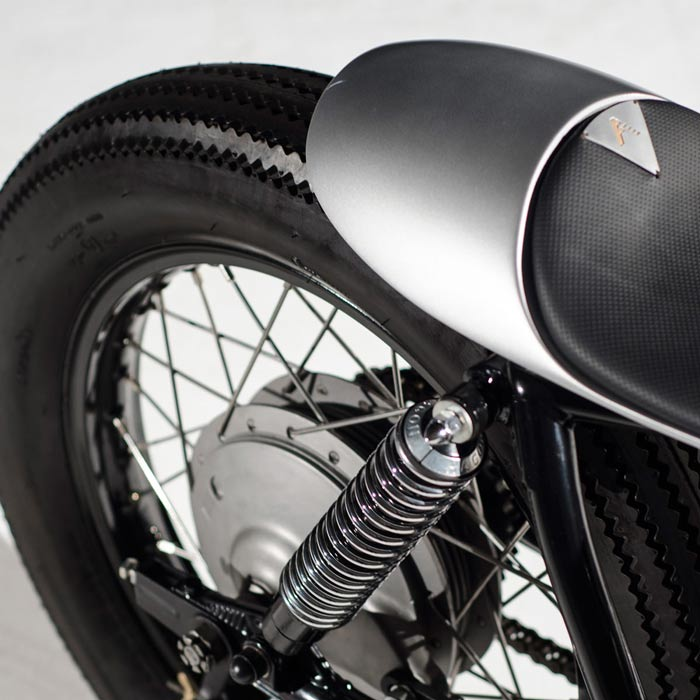 Detailing of the Auto Fabrica Type 6 motorcycle