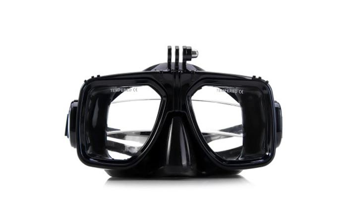 Diving Goggles with GoPro Mount lens