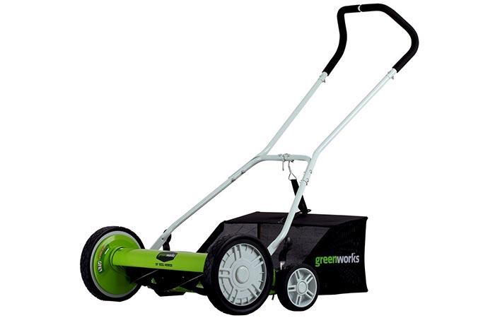 Greenworks 25072 Push Reel Mower with Grass Catcher
