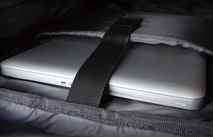 Laptop compartment of the Poler Men's Rolltop Pack