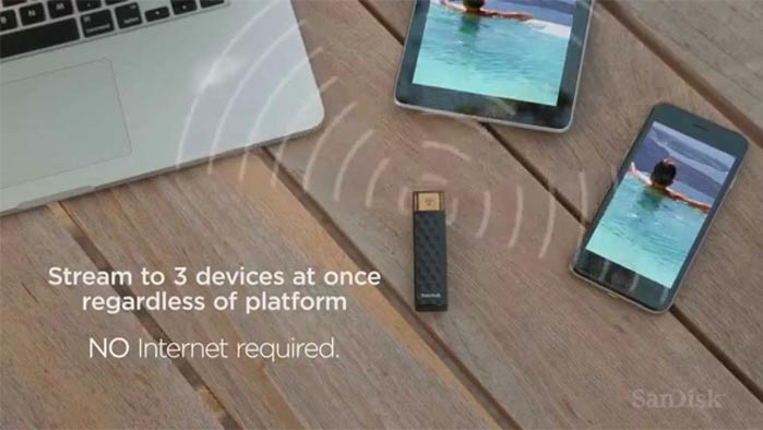 SanDisk Connect wireless stick flash drive