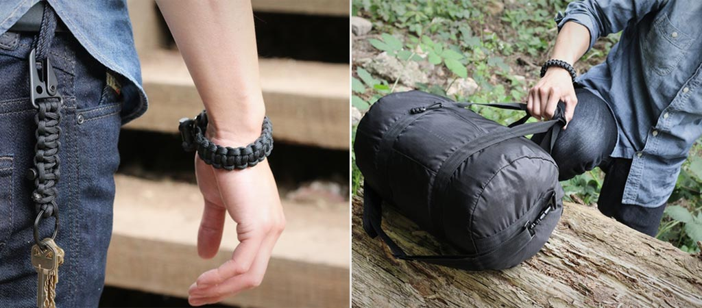 Survival Firestarter Paracord Bracelet By Bomber & Company