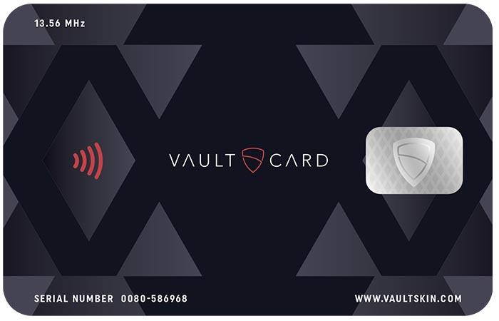 VaultCard front face