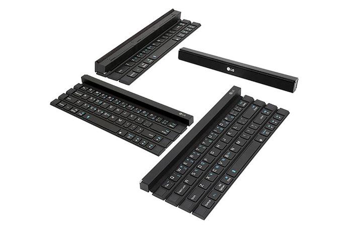 LG Rolly Keyboard unfolding
