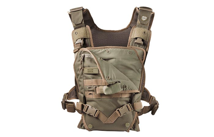 The Mission Critical Baby Carrier colors