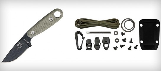 ESEE BLACK IZULA II WITH SURVIVAL KIT AND SHEATH
