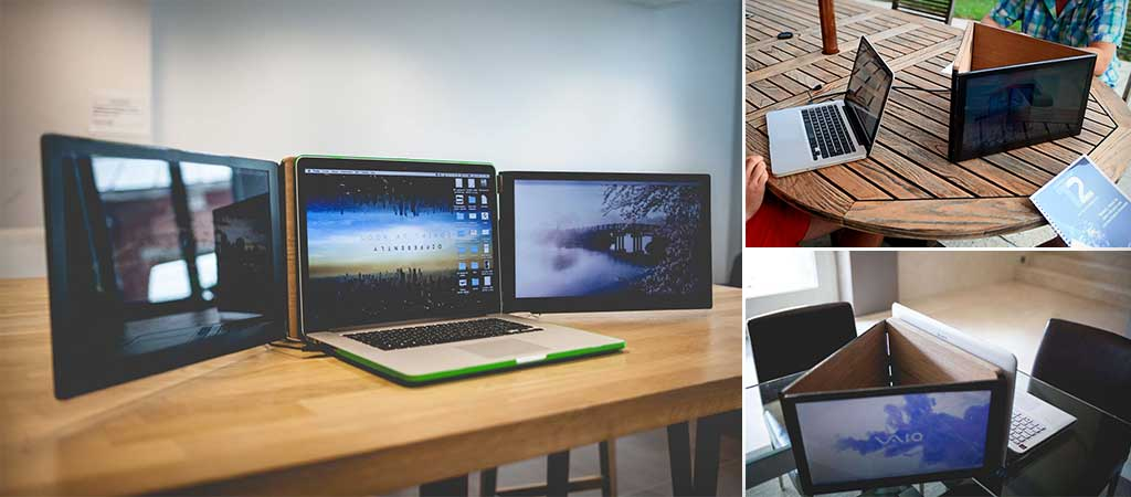 Sliden'joy | Portable Double Screens for Lapops