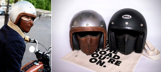 SLIM LEATHER MOTORCYCLE MASK