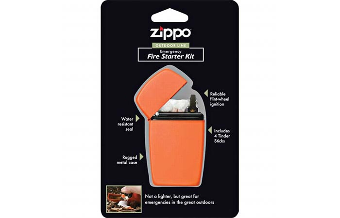Zippo Emergency Fire Starter Kit package