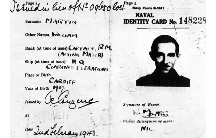 Fake documents from the Operation Mincemat