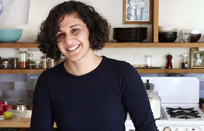 Samin Nosrat in the kitchen