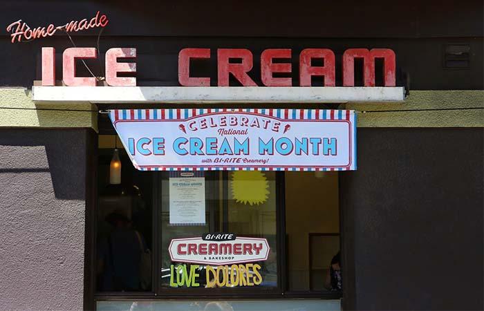 Bi Rite Creamery entrance ice cream month