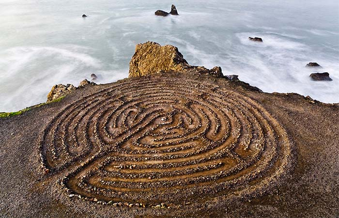 Lands End Trail hidden labyrinth at Eagle's Point